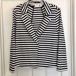 Chico's Black & White Stripe Jacket